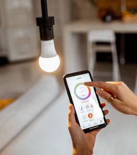 A LIGHT BULB CONNECTED